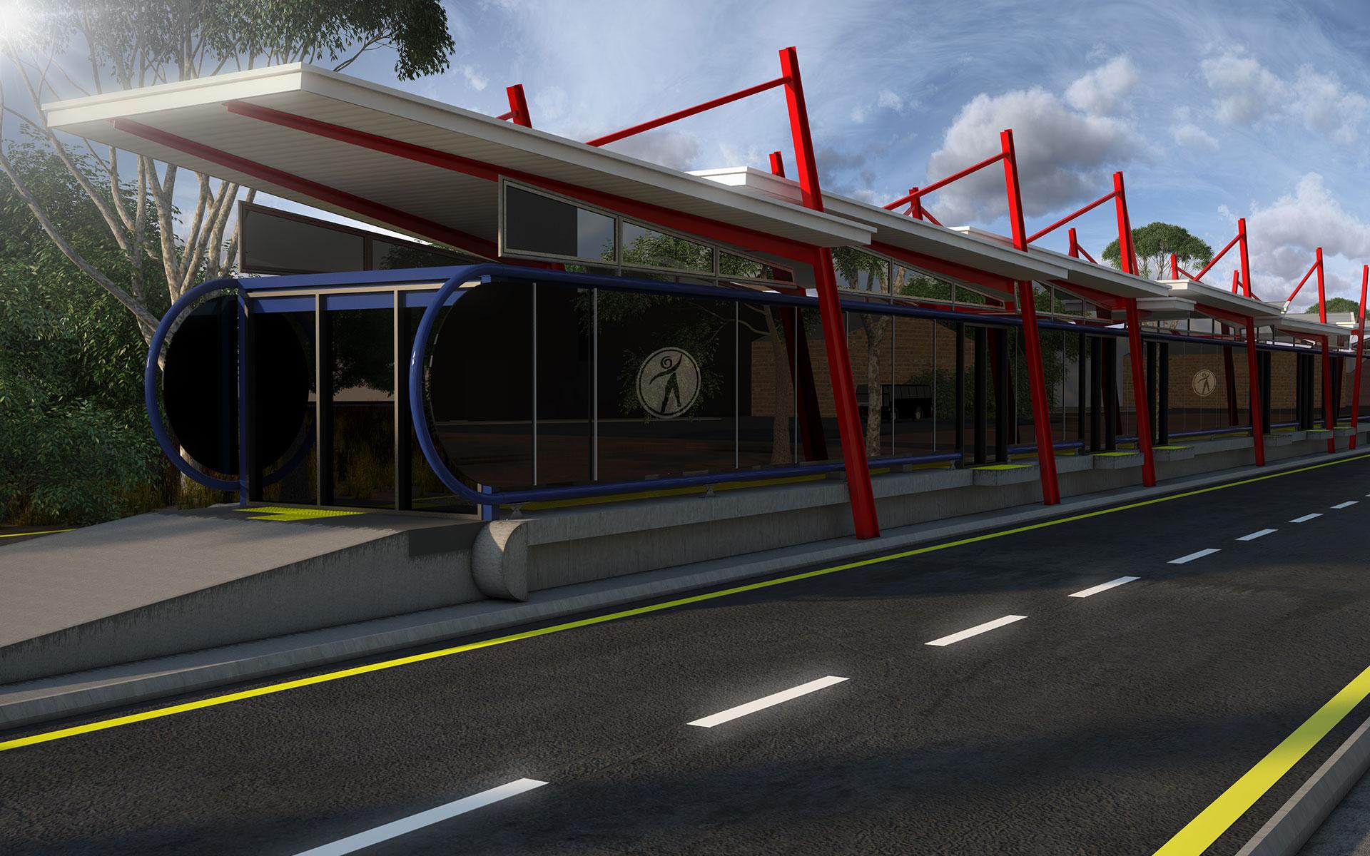 BRT Station in Johannesburg by Delta BEC