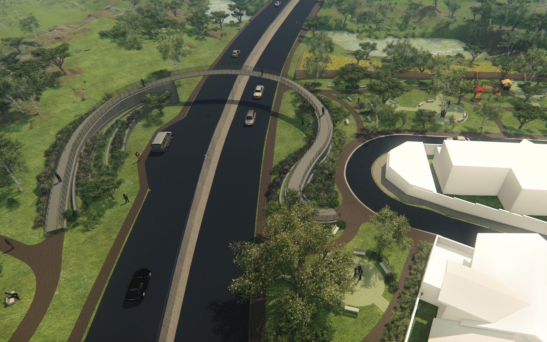 Vincent Tshabalala Pedestrian Bridge